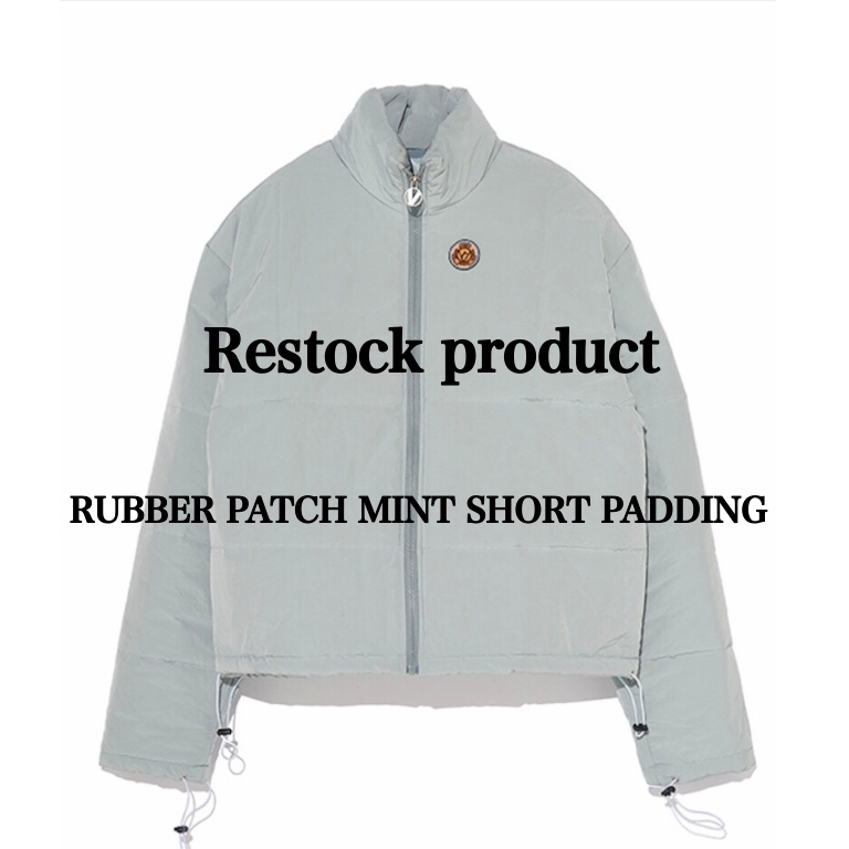 OVERR RUBBER PATCH SHORT PADDING 再入荷!!